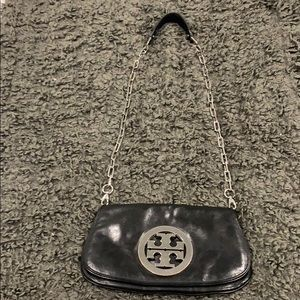 Tory Burch black leather should bag